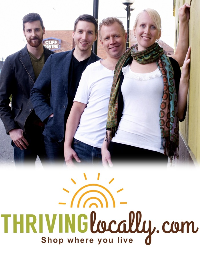 Co-founders of Thriving Locally: Cleary Donnelly, Will Zouzouras, Craig Hanson and Andrea Huhn.